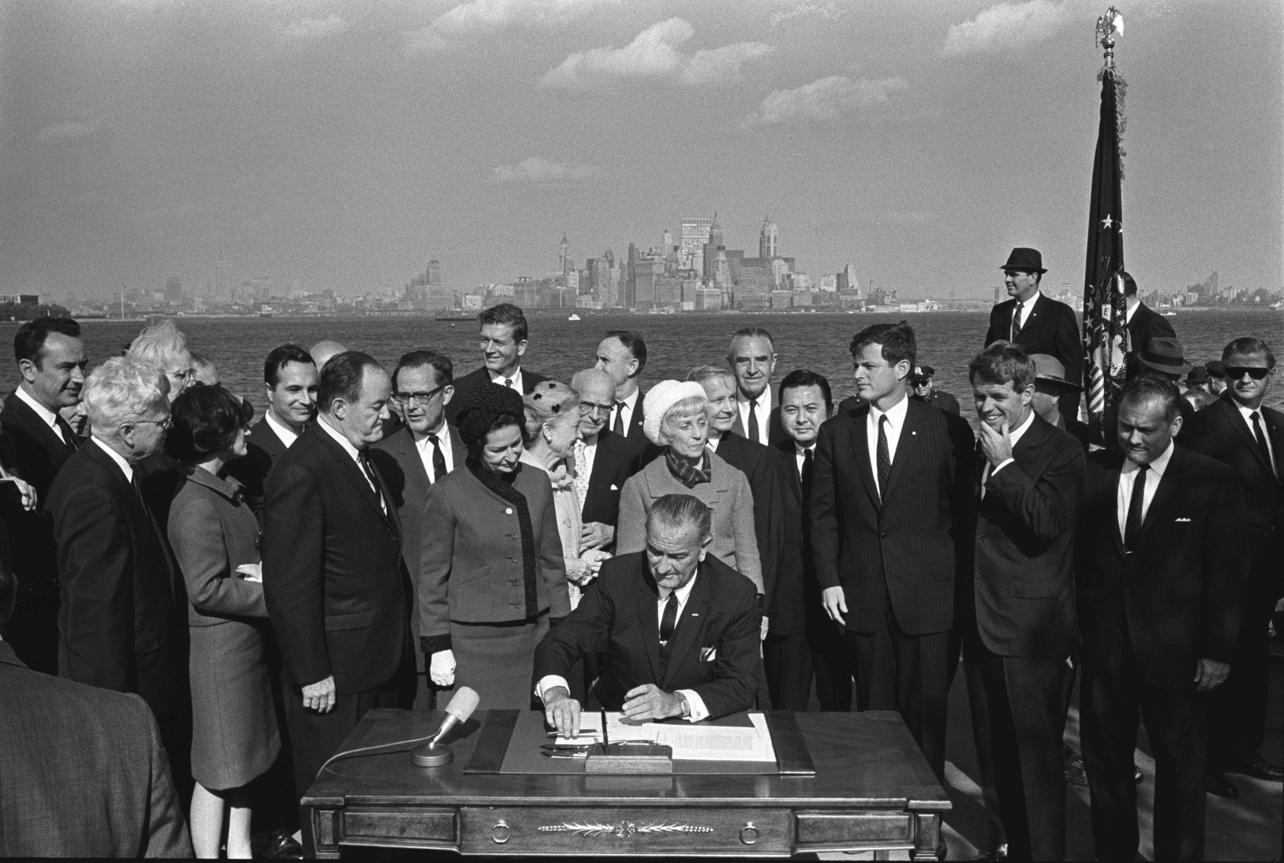 Image result for lbj signed immigration act