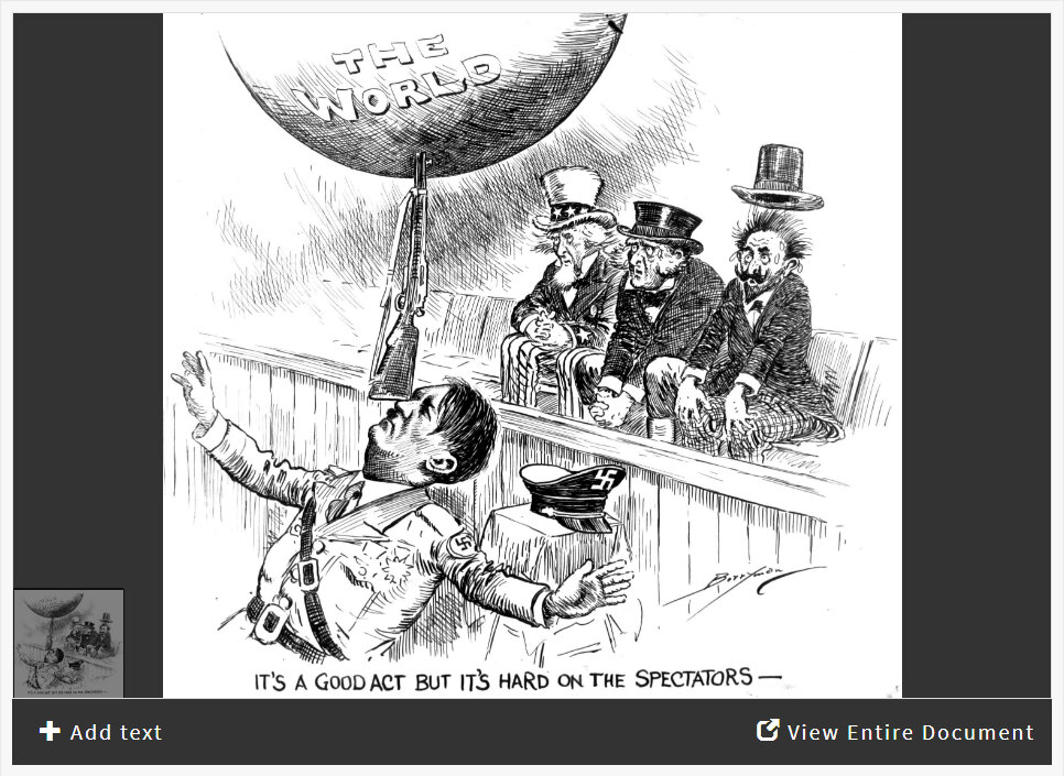 Interpreting a Political Cartoon from the Eve of WWII ...