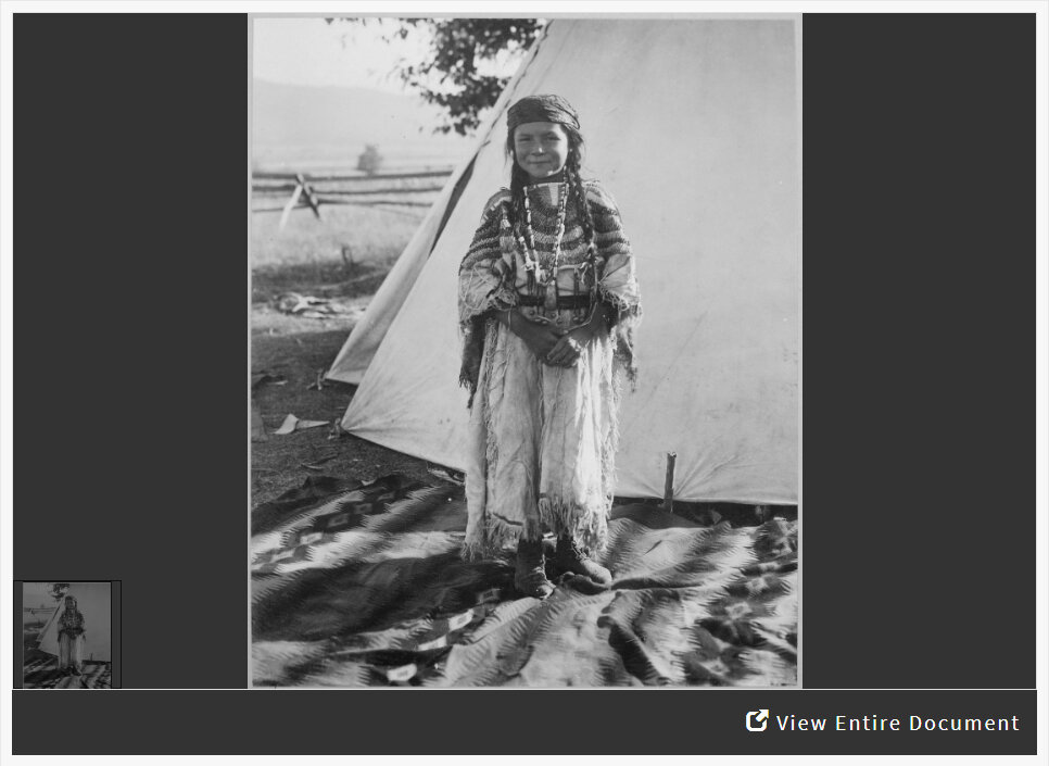 Analyzing a Photograph of a Young American Indian