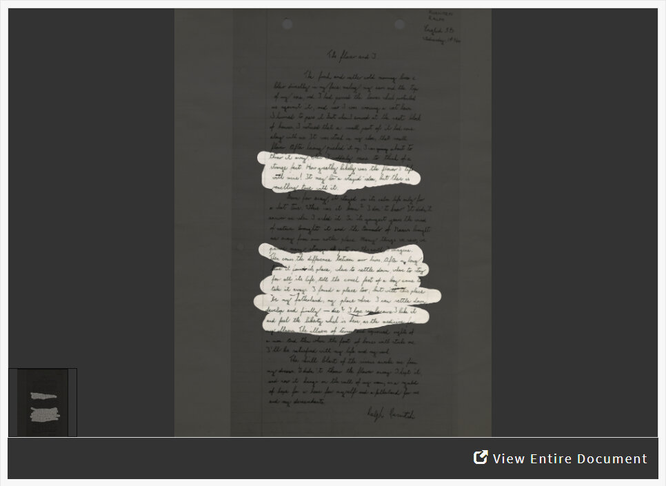 Analyzing a Letter from a Teenage Refugee in New York During World War II