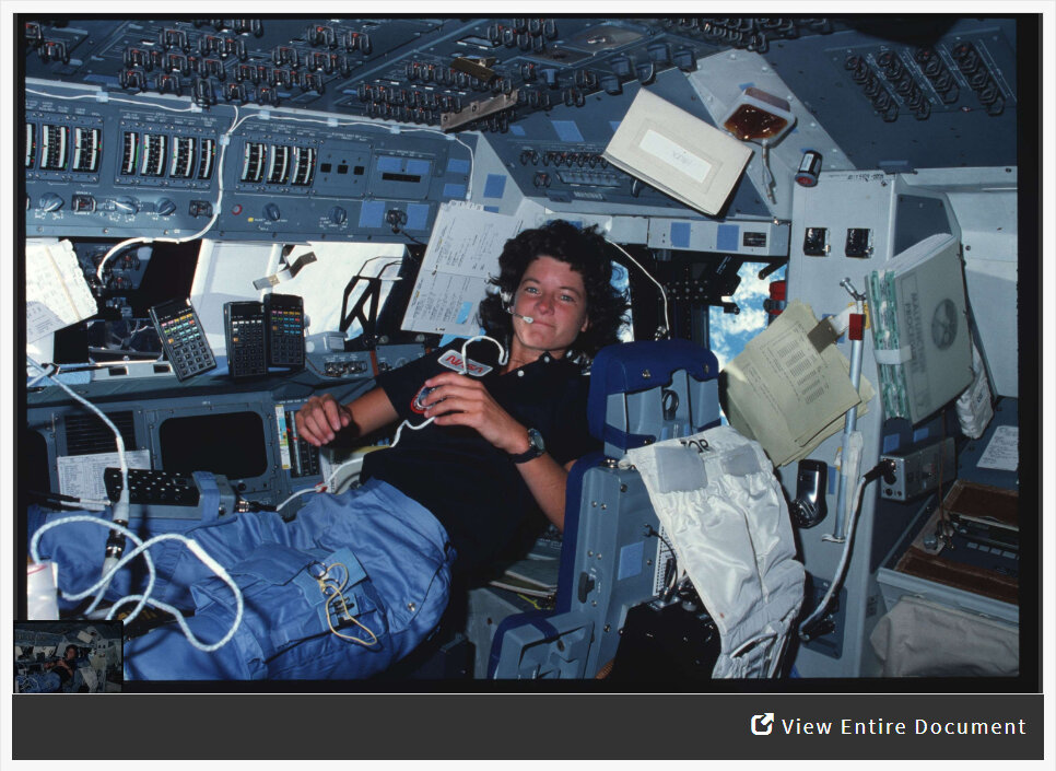 Analyzing a Photograph of Sally Ride