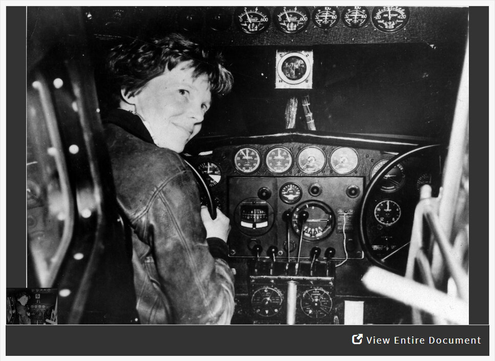 Analyzing a Photograph of Amelia Earhart