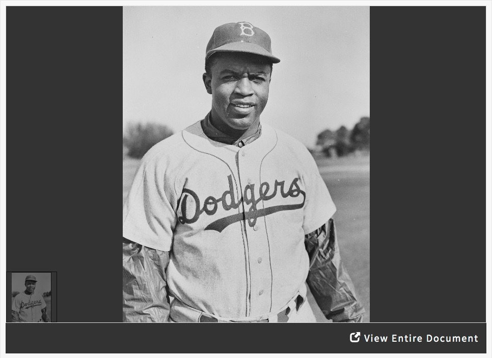 Analyzing a Photograph of Jackie Robinson