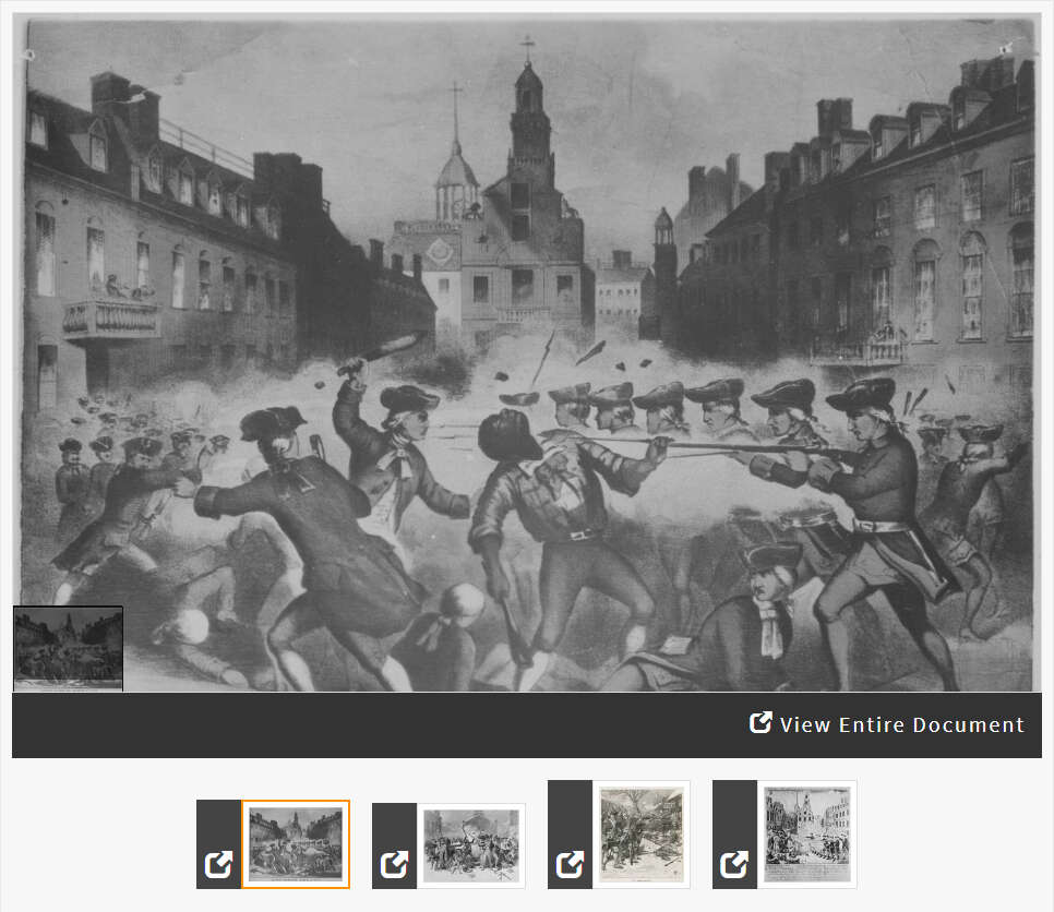 Comparing Depictions of the Boston Massacre