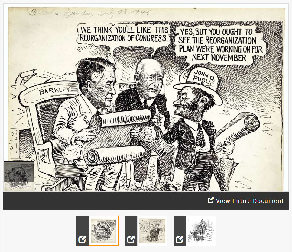 Comparing the Constitutional Process of Taking Office in Political Cartoons