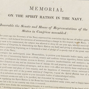 Memorial on Spirit Rations in the Navy