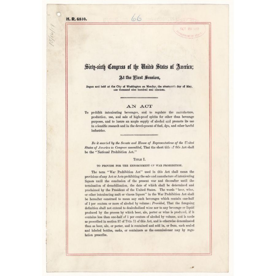 Prohibition and Its Consequences – Prohibition Worksheet