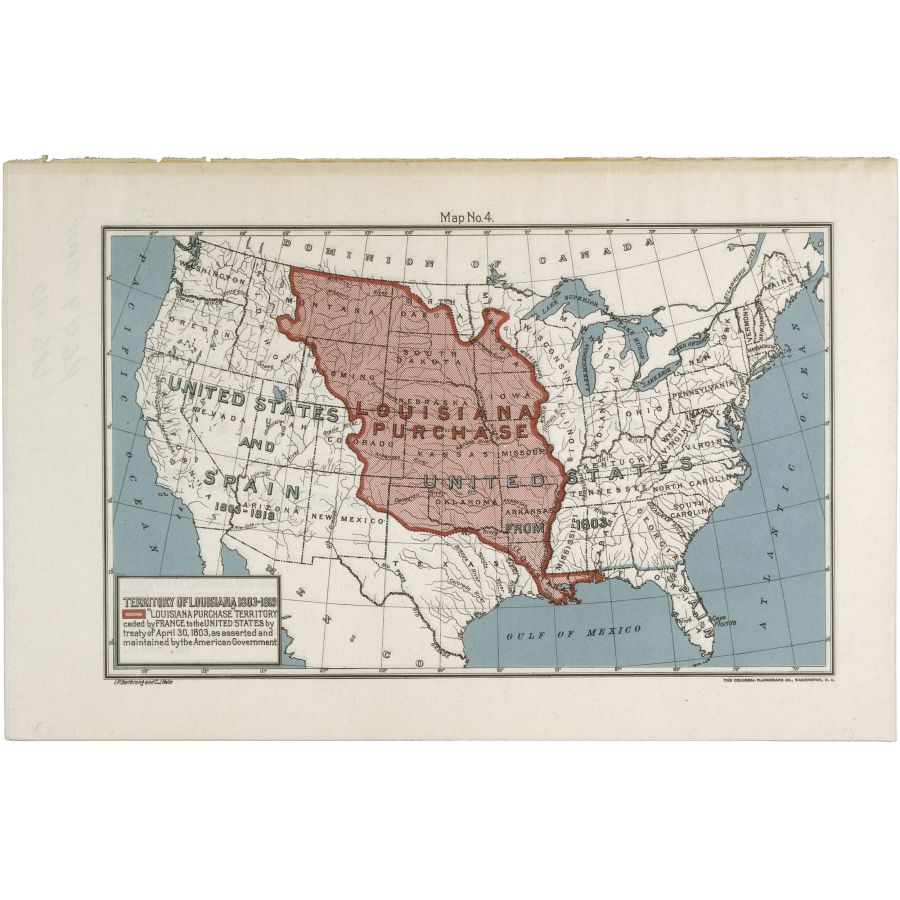 Map of the Louisiana Purchase Territory | DocsTeach