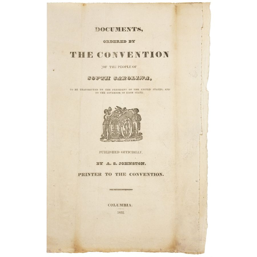 south carolina nullification essay After the final vote on the tariff of 1828, the south carolina congressional.