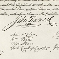 John Hancock's Signature on the Declaration of Independence
