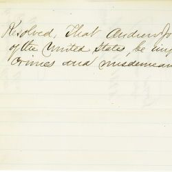 Resolution of Impeachment of President Andrew Johnson, Adopted by House of Representatives