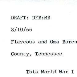 Relocation Account of Flaveous and Oma Boren