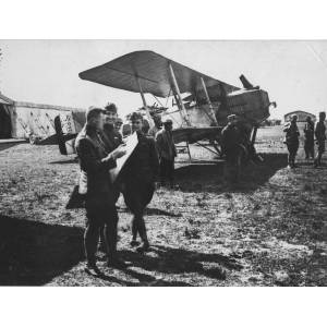 American Pilots Planning a Bombing Run over Metz
