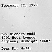 Draft letter to Dr. Richard Mudd from Jimmy Carter