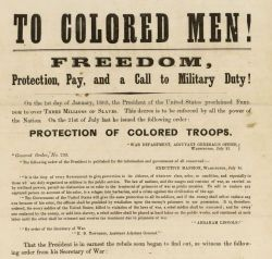 """To Colored Men!"" Broadside"