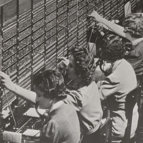 Women Working at a Bell System Telephone Switchboard