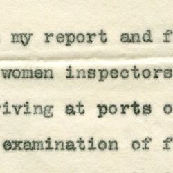 Report to President Roosevelt Regarding Female Boarding Matrons at Ellis Island