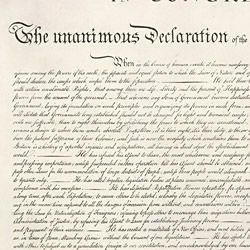 Print of the Declaration of Independence