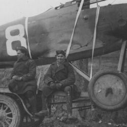 Captured German Plane on its way to British Aviation Depot. Doullens Road.