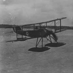 British Seaplane in Flight off Calshot- England