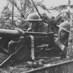 German Machine Gun, Captured by the British, Turned Against Themselves. Scene During the Fighting in Champagne