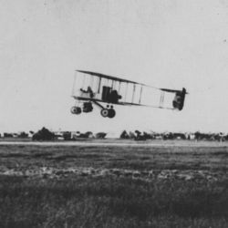Aeroplane Carrying Supplies for the Garrison at Kut. Scene During the Mesopotamian Campaign