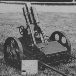 Captured German Trench Mortar