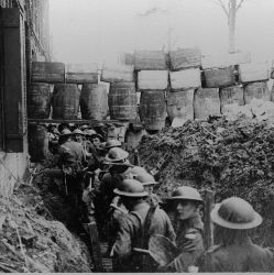 A communication trench at Arras, France. 1917