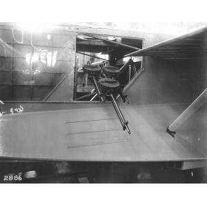 Triple Gun Mount on an F-5-L Seaplane Built at the Naval Aircraft Factory