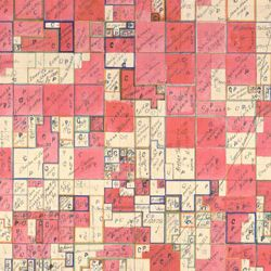 Allotment Map of Township 4 South of Range 10 East of the Indian Meridian in Indian Territory
