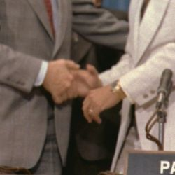 Jimmy Carter and Omar Torrijos at the signing of the Panama Canal Treaty