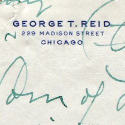 Letter from George Reid to the Department of Labor
