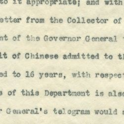 Letter from the Acting Secretary of the Bureau of Immigration and Naturalization to Secretary of War Luke E. Wright Suggesting a Meeting to Discuss the Immigration Policies for Chinese Persons