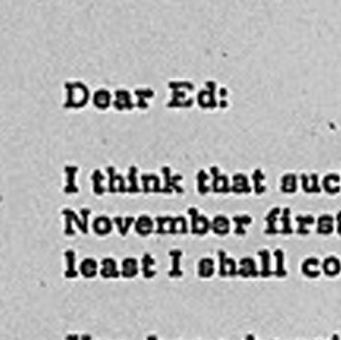Letter from President Eisenhower to Edgar Eisenhower
