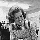 Photograph of First Lady Betty Ford Observing a Demonstration by a Student at the Children