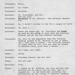 Second Telephone Conversation Between President Kennedy and Governor Barnett