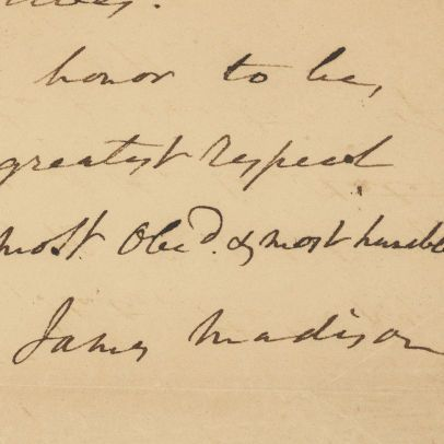 Letter from President-elect James Madison to John Milledge