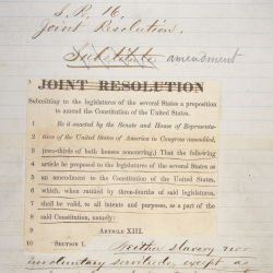 Draft of Senate Joint Resolution Submitting the Thirteenth Amendment to the States