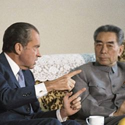 Photograph of President Richard Nixon and Premier Chou En-lai