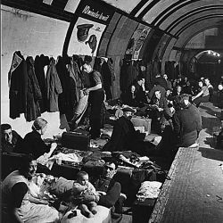 "WWII; England; ""West End London Air Raid Shelter"""