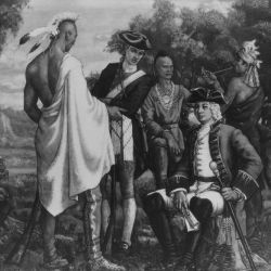 Sir William Johnson Conferring with the Indians