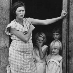 Wife and Children of a Sharecropper in Washington County, Arkansas