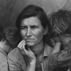 Farm Security Administration: Destitute pea pickers in California. Mother of seven children