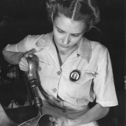 Mrs. Virginia Davis Working at the Corpus Christi Naval Air Base
