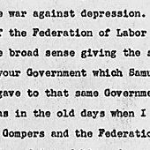 Address of the President at the Dedication of the Samuel Gompers Memorial Monument in Washington, D.C.