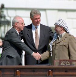 Photograph at the Middle East Peace Agreement Ceremony