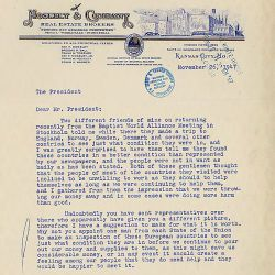 Correspondence between Ray Moseley and Harry S. Truman