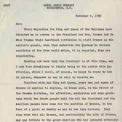 Letter from A. G. Politis to Dean Acheson