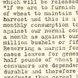 Press release from J. W. Hallowell for Distribution by Food Administration for Wisconsin