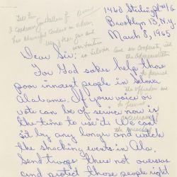 Letter from Mrs. E. Jackson in Favor of Voting Rights